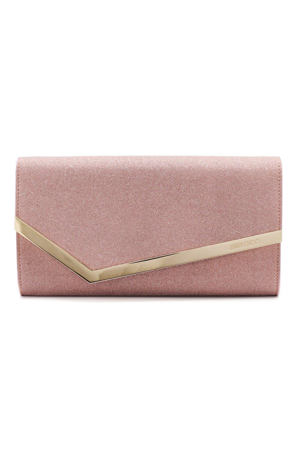 Клатч Emmie Jimmy Choo розового цвета | Фото №1