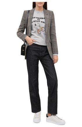 Женские кожаные кеды portofino DOLCE & GABBANA белого цвета, арт. CK1602/AH506 | Фото 2 (Статус проверки: Проверена категория; Подошва: Платформа; Материал внутренний: Натуральная кожа)