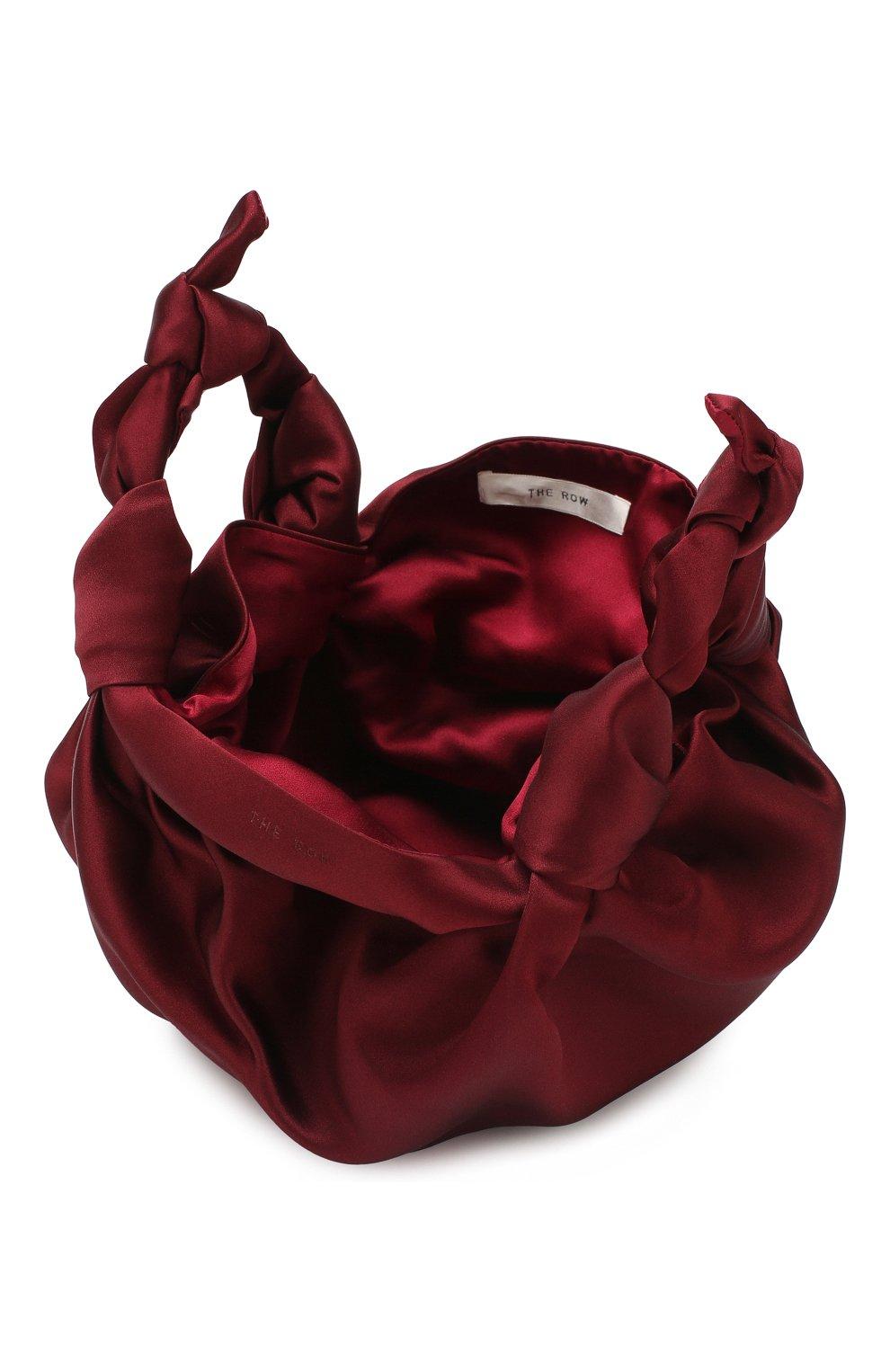Сумка Ascot  The Row бордового цвета | Фото №4