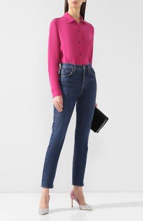 Женская туфли romy 85 с глиттером JIMMY CHOO розового цвета, арт. R0MY 85/V0G | Фото 2