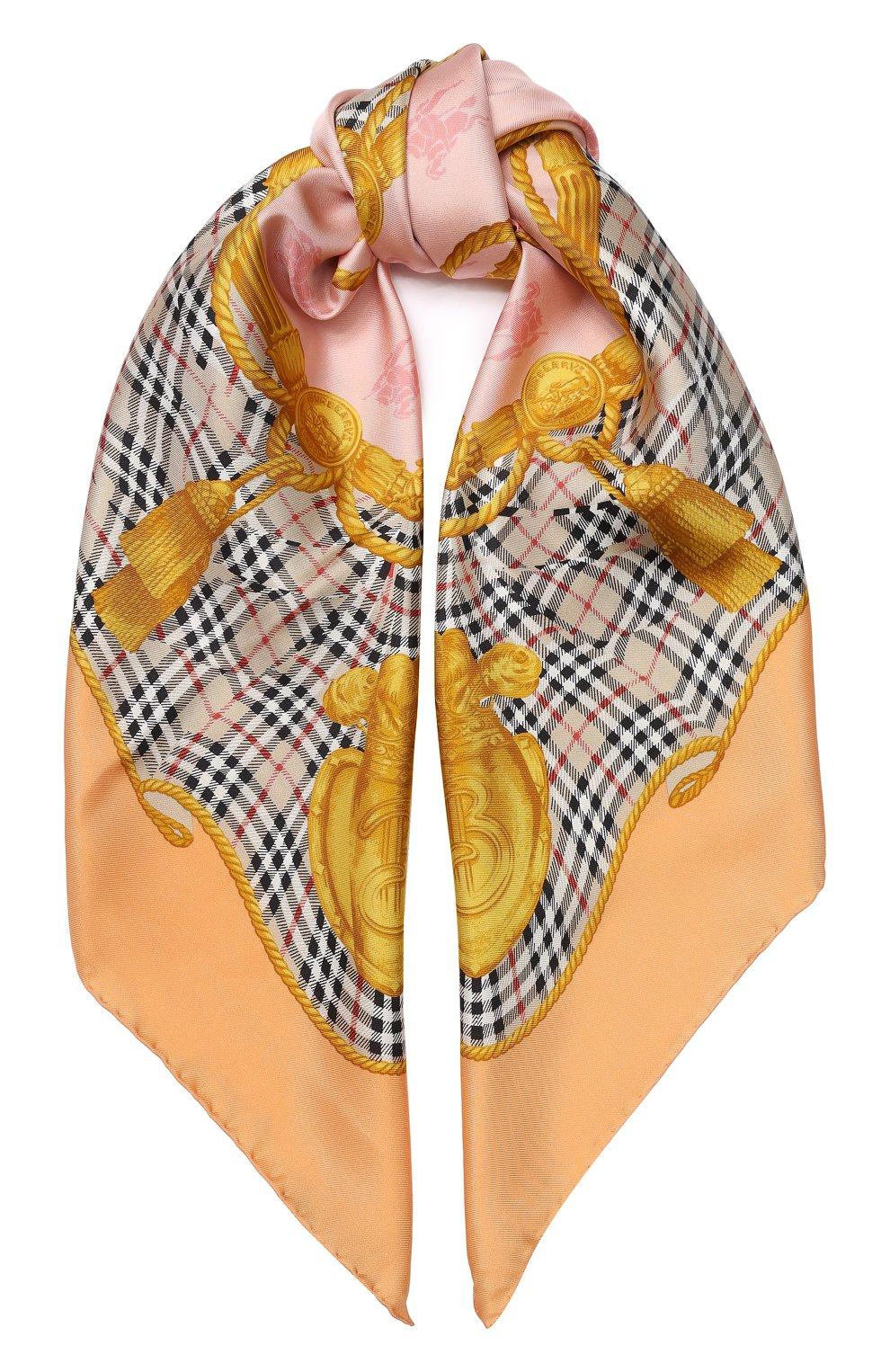 Шелковый платок Burberry разноцветный | Фото №1