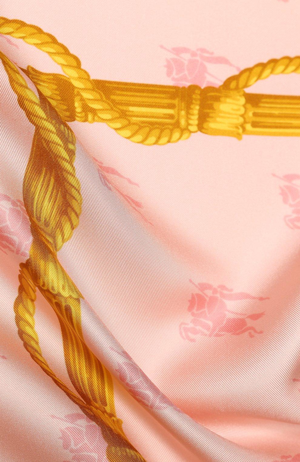 Шелковый платок Burberry разноцветный | Фото №2