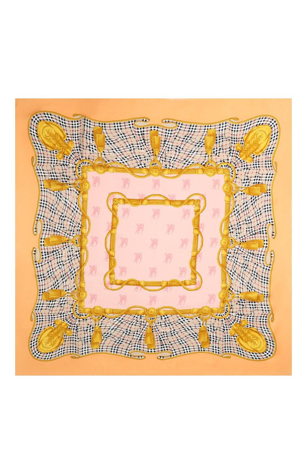 Шелковый платок Burberry разноцветный | Фото №3
