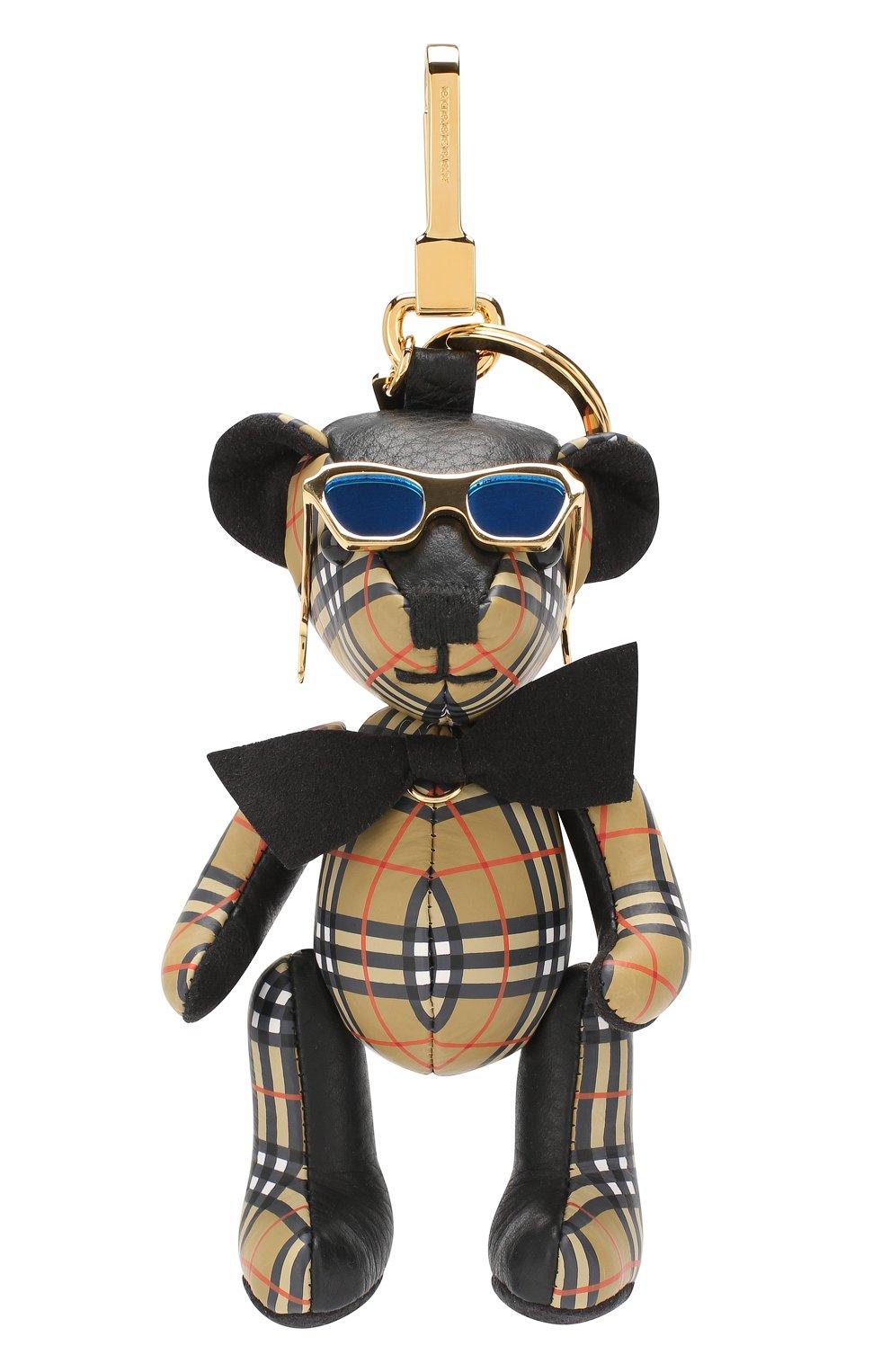 Брелок Thomas Bear Burberry бежевый | Фото №1