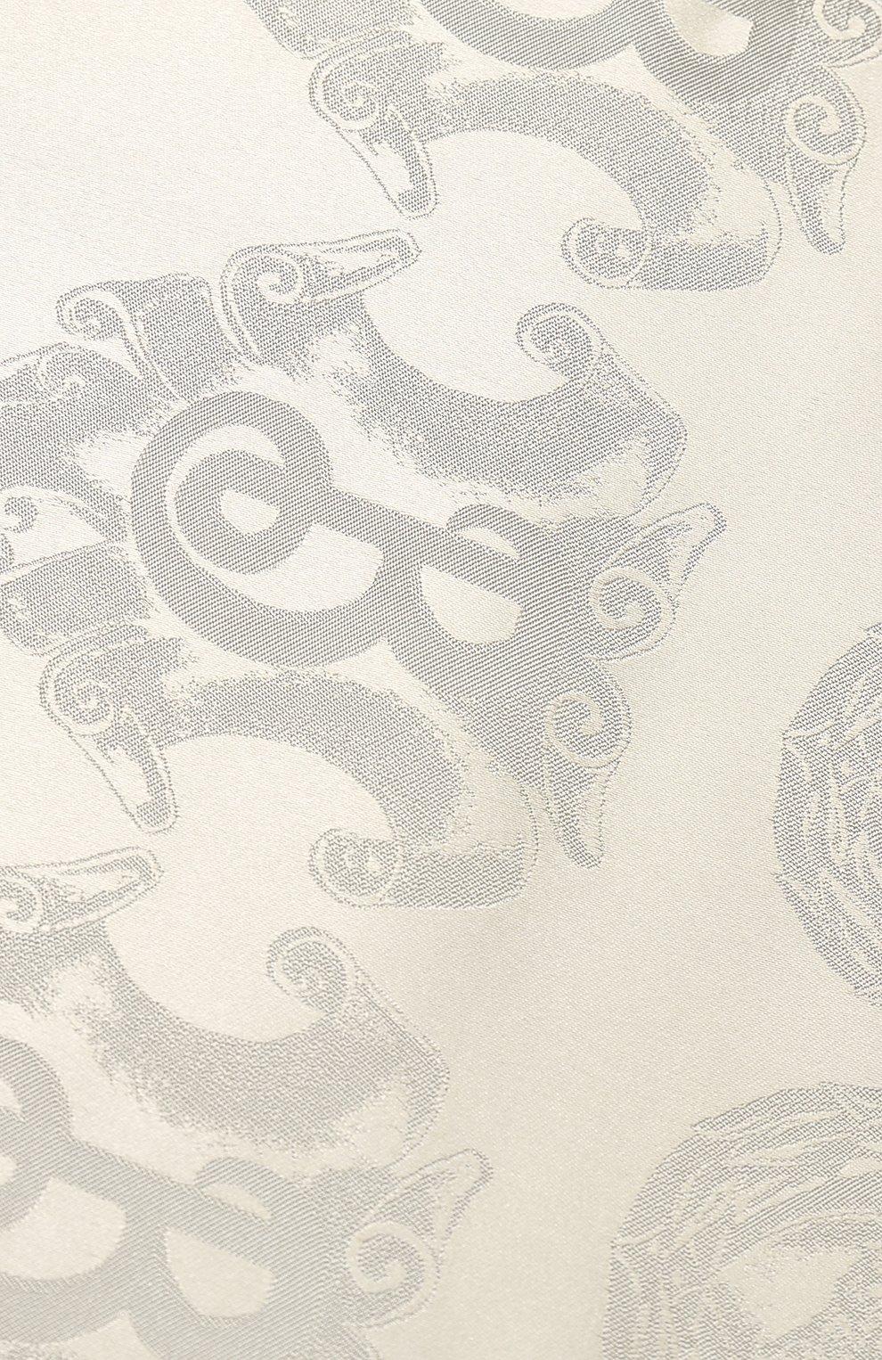 Шелковый шарф Burberry светло-серый | Фото №2
