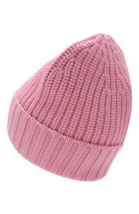 Женский шапка из смеси шерсти и кашемира BURBERRY розового цвета, арт. 8007193 | Фото 2