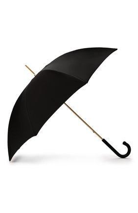 Женский зонт-трость PASOTTI OMBRELLI черного цвета, арт. 189/RAS0 5A488/93/PELLE | Фото 2
