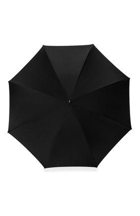 Женский зонт-трость PASOTTI OMBRELLI черного цвета, арт. 189/RAS0 5K890/1/PELLE | Фото 1