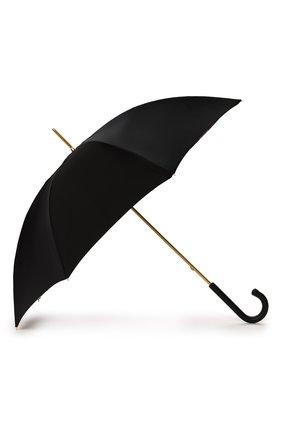 Женский зонт-трость PASOTTI OMBRELLI черного цвета, арт. 189/RAS0 5K890/1/PELLE | Фото 2