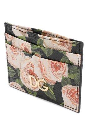 Кожаный футляр для кредитных карт Dolce & Gabbana черного цвета | Фото №3