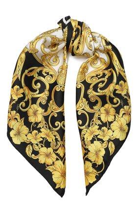Шелковый платок Versace разноцветный | Фото №1