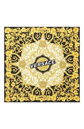 Шелковый платок Versace разноцветный | Фото №3