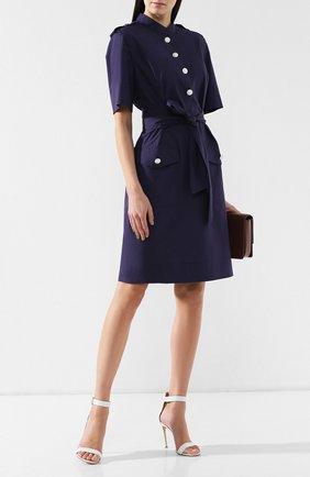 Женское хлопковое платье ESCADA темно-синего цвета, арт. 5030347   Фото 2