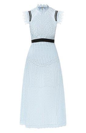 Женское кружевное платье SELF-PORTRAIT голубого цвета, арт. SP20-128   Фото 1