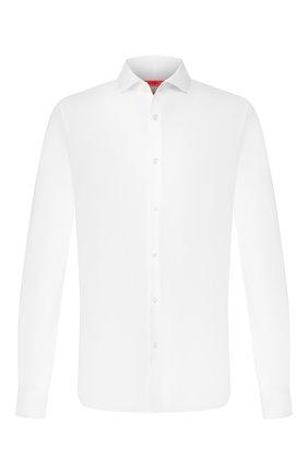 Мужская хлопковая сорочка HUGO белого цвета, арт. 50391519 | Фото 1