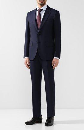 Мужской шерстяной костюм ZEGNA COUTURE синего цвета, арт. 532N21/21L2N5 | Фото 1