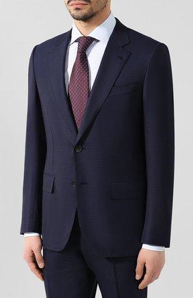 Мужской шерстяной костюм ZEGNA COUTURE синего цвета, арт. 532N21/21L2N5 | Фото 2