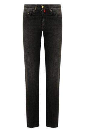 Мужские джинсы прямого кроя KITON черного цвета, арт. UPNJS1/J07R53 | Фото 1