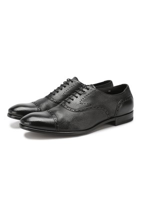 Мужские кожаные оксфорды H`D`S`N BARACCO черного цвета, арт. 69303.2* | Фото 1