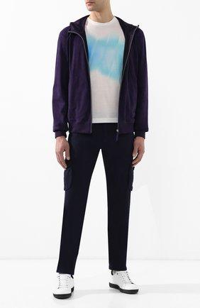 Мужские джинсы прямого кроя KITON темно-синего цвета, арт. UFPPCA/J07R74 | Фото 2