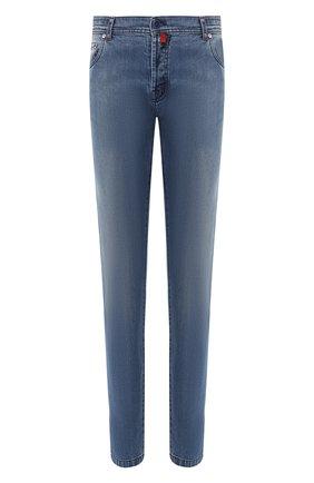 Мужские джинсы прямого кроя KITON голубого цвета, арт. UPNJS/J07R50 | Фото 1
