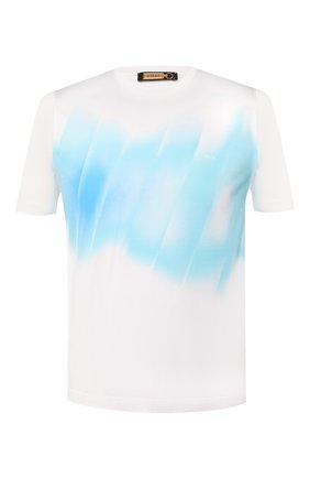 Мужская хлопковая футболка  ZILLI белого цвета, арт. MER-NT220-SHAD1/MC01   Фото 1