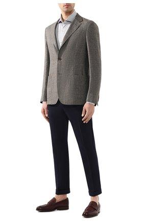 Мужская хлопковая рубашка LORO PIANA серого цвета, арт. FAI4968 | Фото 2