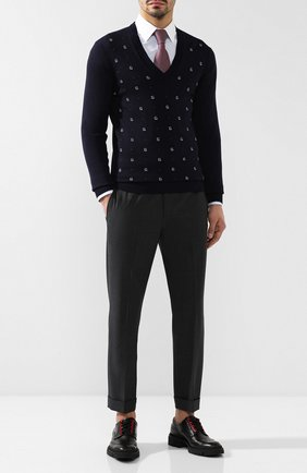 Мужской шерстяной пуловер GUCCI темно-синего цвета, арт. 545628/XKABL | Фото 2