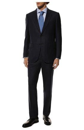 Мужская хлопковая сорочка CORNELIANI голубого цвета, арт. 83P150-9111211/00 | Фото 2
