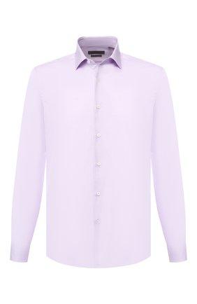 Мужская хлопковая сорочка с воротником кент CORNELIANI сиреневого цвета, арт. 83P010-9111604/00 | Фото 1