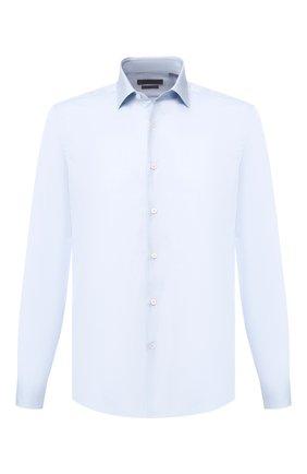 Мужская хлопковая сорочка с воротником кент CORNELIANI голубого цвета, арт. 83P010-9111604/00 | Фото 1