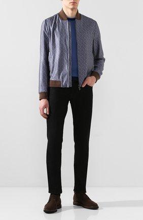 Мужские замшевые ботинки TOD'S темно-коричневого цвета, арт. XXM53B00D80RE0 | Фото 2
