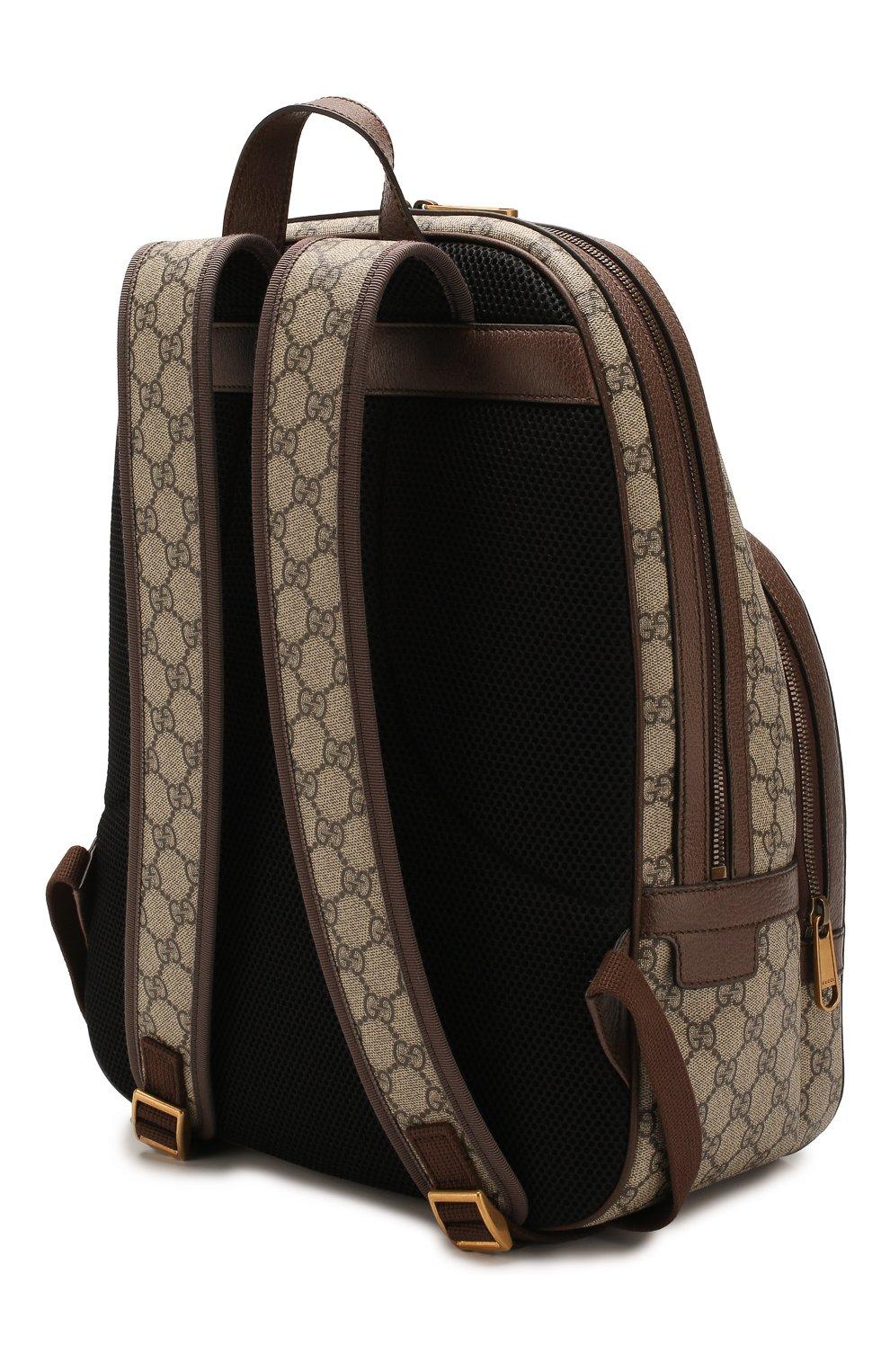 Мужской рюкзак ophidia gg GUCCI бежевого цвета, арт. 547967/9U8BT | Фото 3