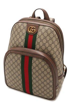 Мужской рюкзак ophidia gg GUCCI бежевого цвета, арт. 547967/9U8BT | Фото 4