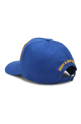Мужской хлопковая бейсболка DSQUARED2 синего цвета, арт. BCM0160 05C00001 | Фото 2