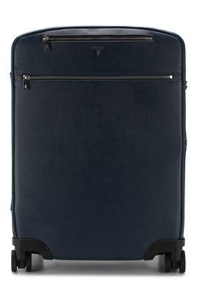 Кожаный дорожный чемодан на колесиках | Фото №1