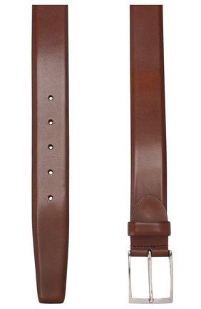 Мужской кожаный ремень BARRETT светло-коричневого цвета, арт. 82B547.11/EVERT0N | Фото 2