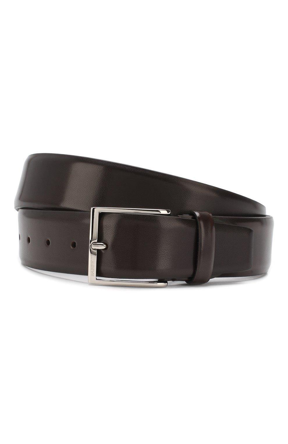 Мужской кожаный ремень BARRETT темно-коричневого цвета, арт. 82B547.3/EVERT0N   Фото 1 (Случай: Формальный)