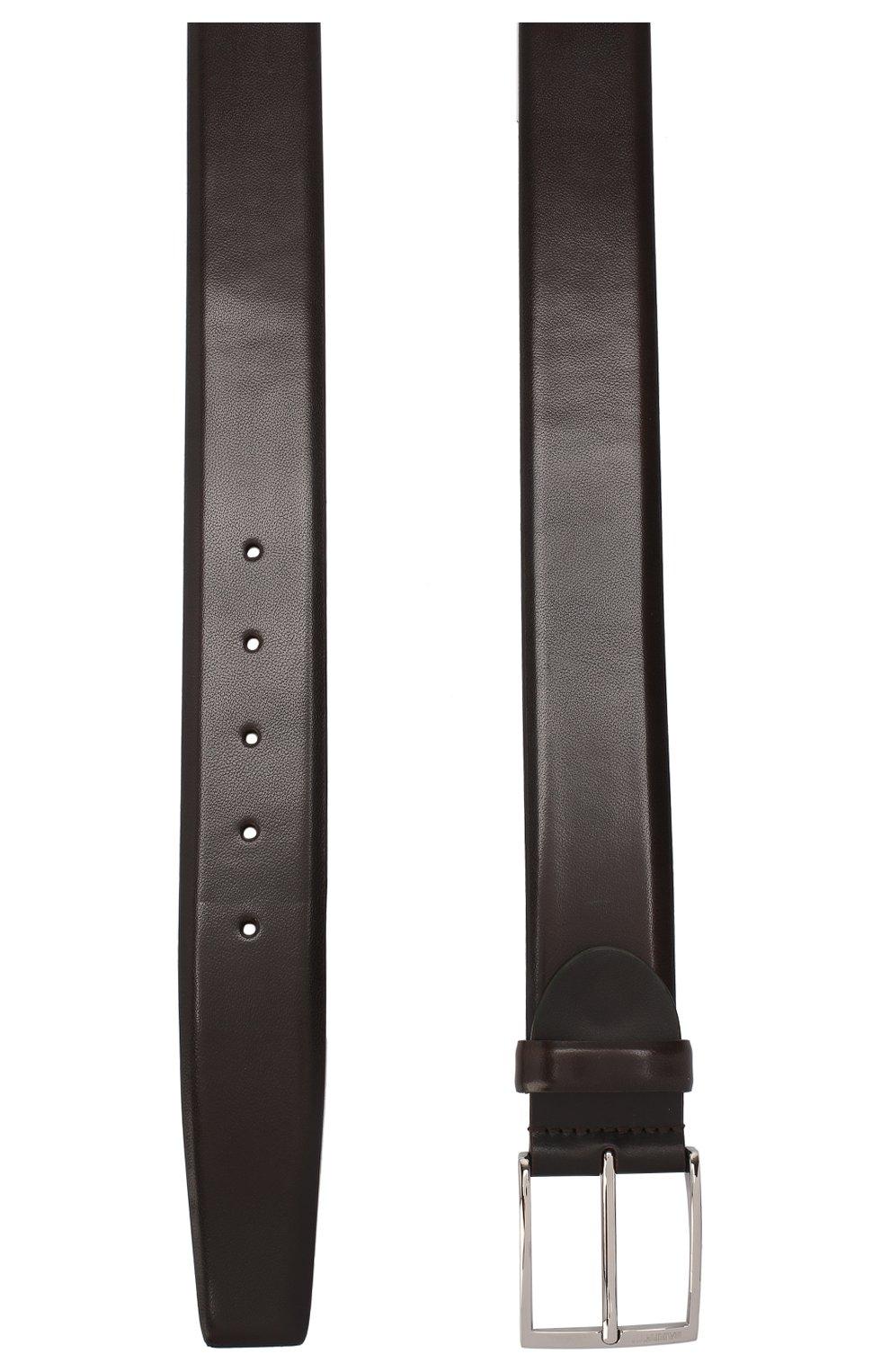 Мужской кожаный ремень BARRETT темно-коричневого цвета, арт. 82B547.3/EVERT0N   Фото 2 (Случай: Формальный)