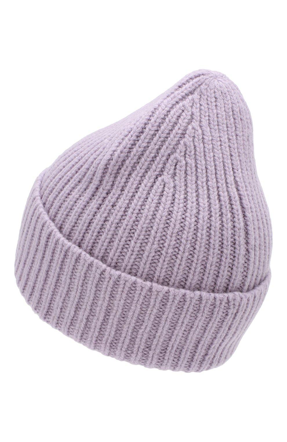 Шерстяная шапка Acne Studios фиолетового цвета | Фото №2