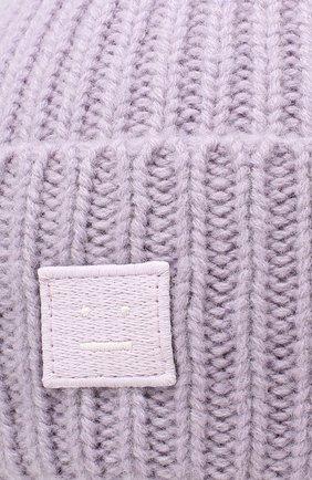 Шерстяная шапка Acne Studios фиолетового цвета | Фото №3