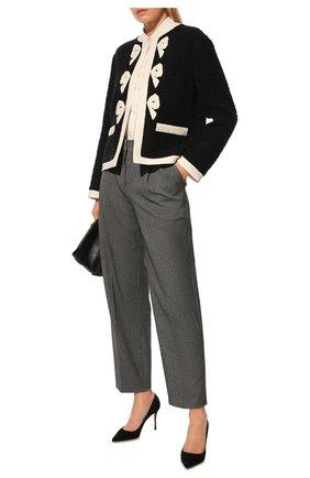 Женская замшевые туфли godiva SERGIO ROSSI черного цвета, арт. A43843-MCAZ01 | Фото 2