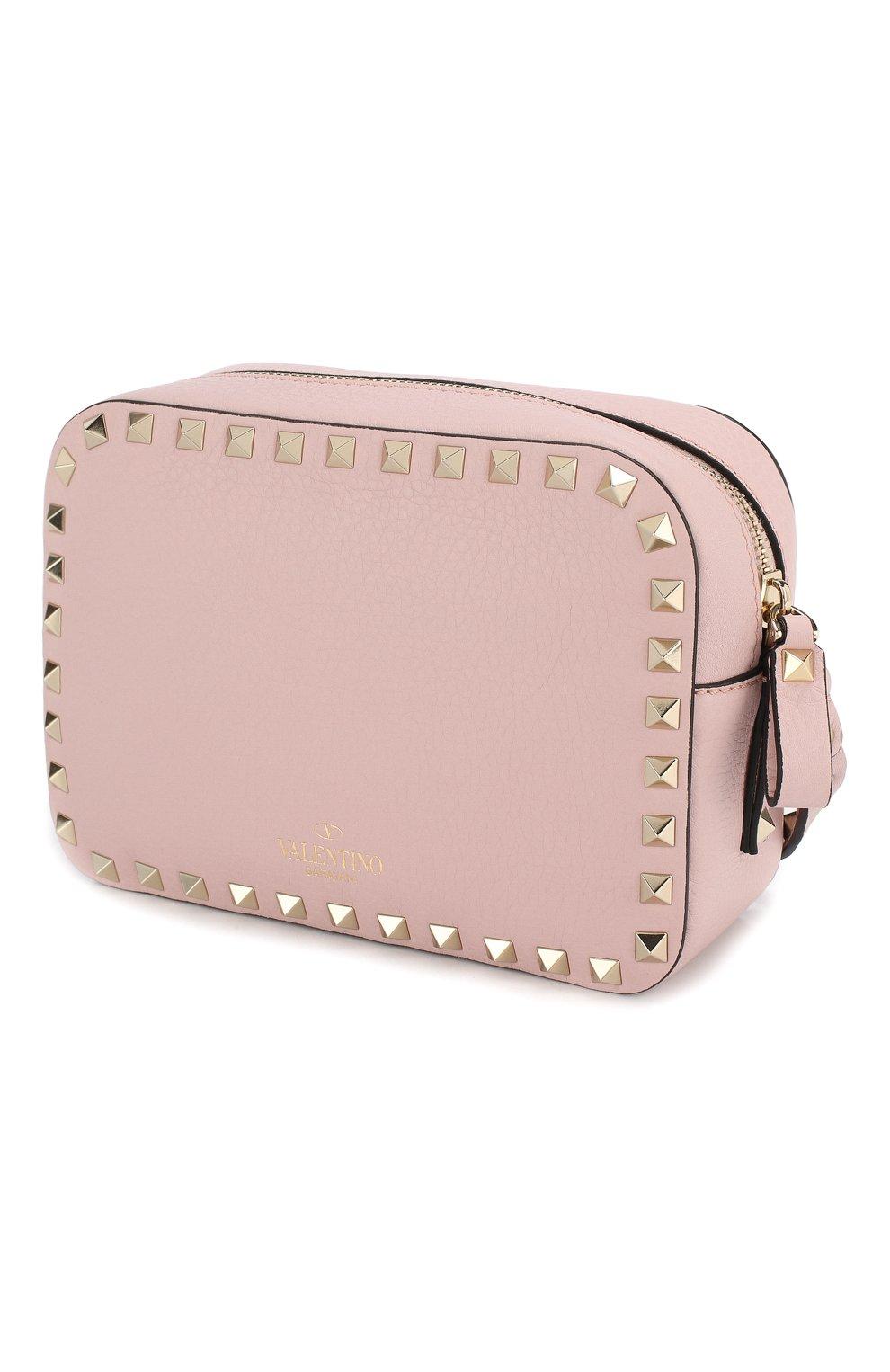 Сумка Valentino Garavani Rockstud  Valentino светло-розовая цвета | Фото №3