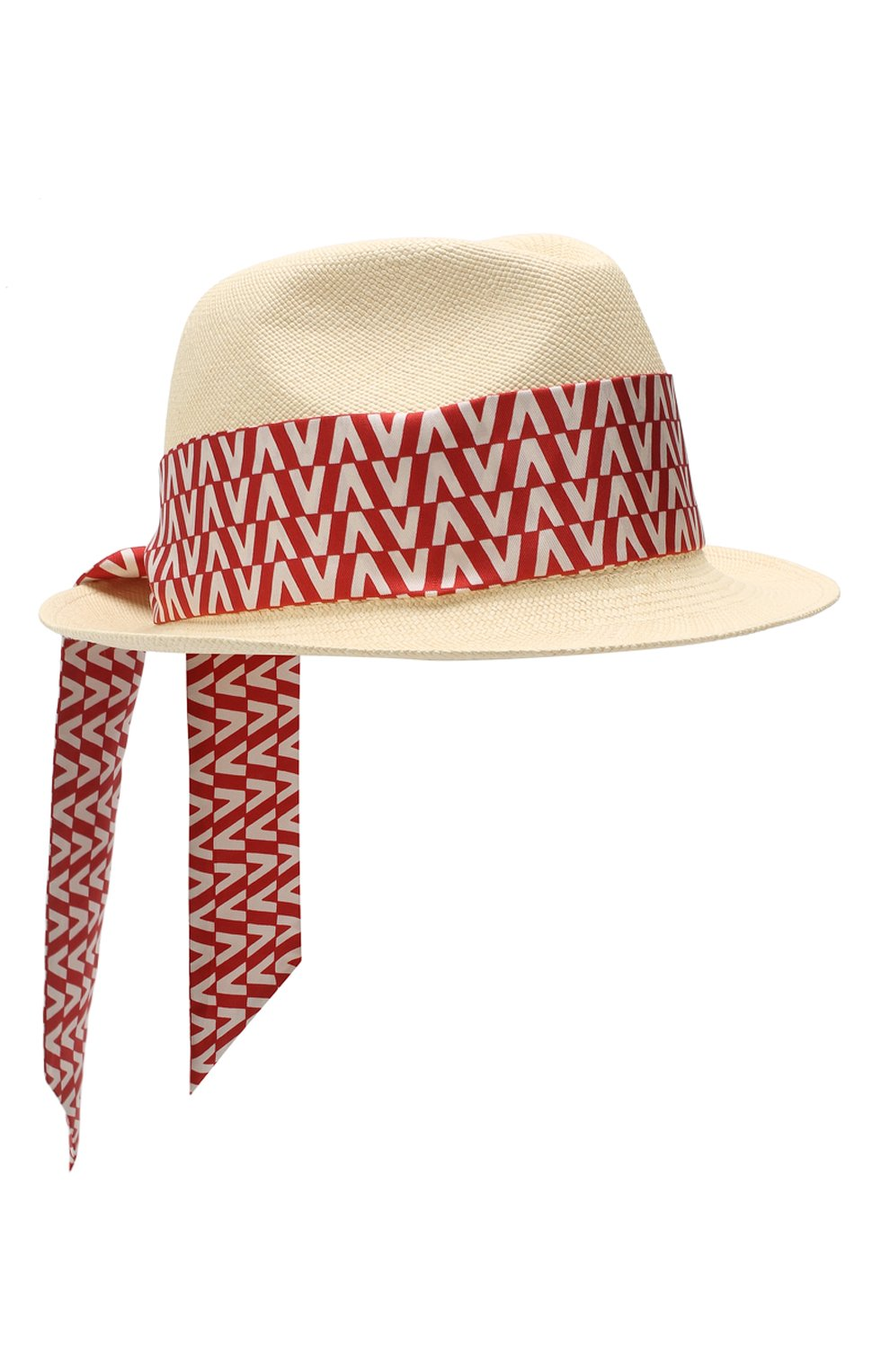 Соломенная шляпа Valentino Garavani Valentino красного цвета | Фото №1