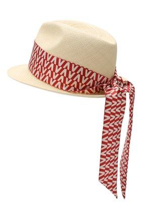 Соломенная шляпа Valentino Garavani Valentino красного цвета | Фото №2