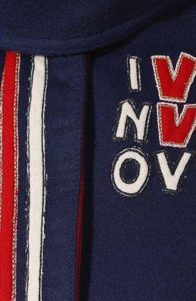 Шерстяное пончо Valentino синяя | Фото №5