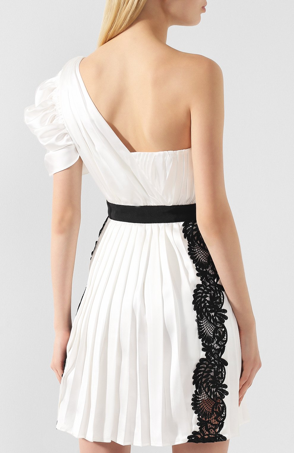 Платье с кружевной отделкой | Фото №4