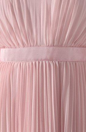 Женское плиссированное платье-макси SELF-PORTRAIT розового цвета, арт. SP20-042P | Фото 5