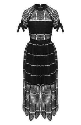 Вязаное платье-миди | Фото №1