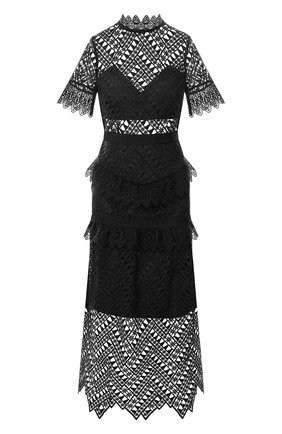 Кружевное платье-миди | Фото №1